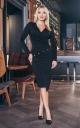 Slinky evening dress (black)