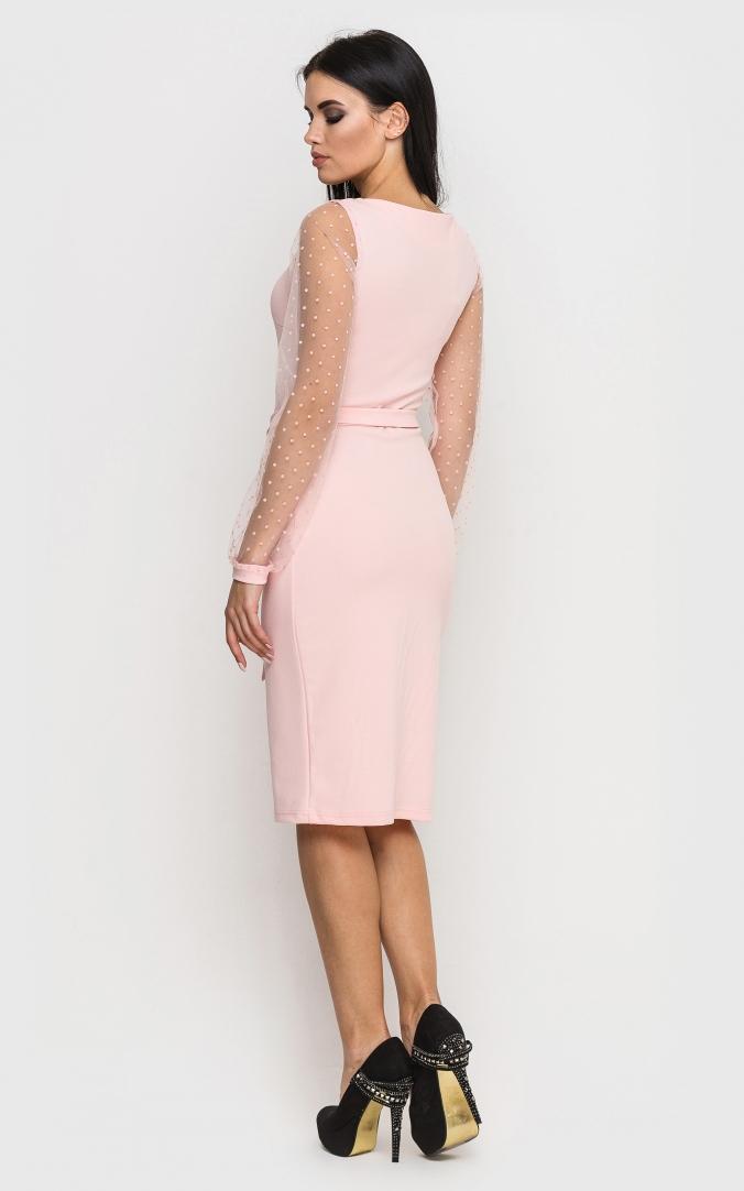 Evening dress (pink)