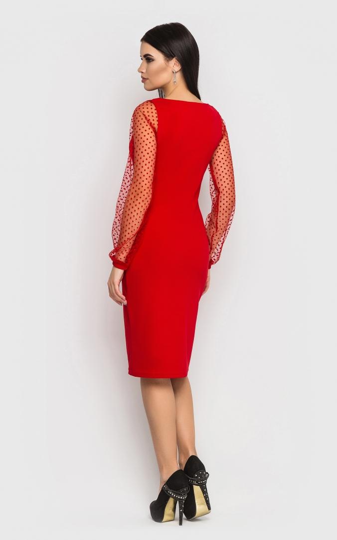 Evening dress (red)