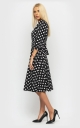 Stylish dress with polka dots