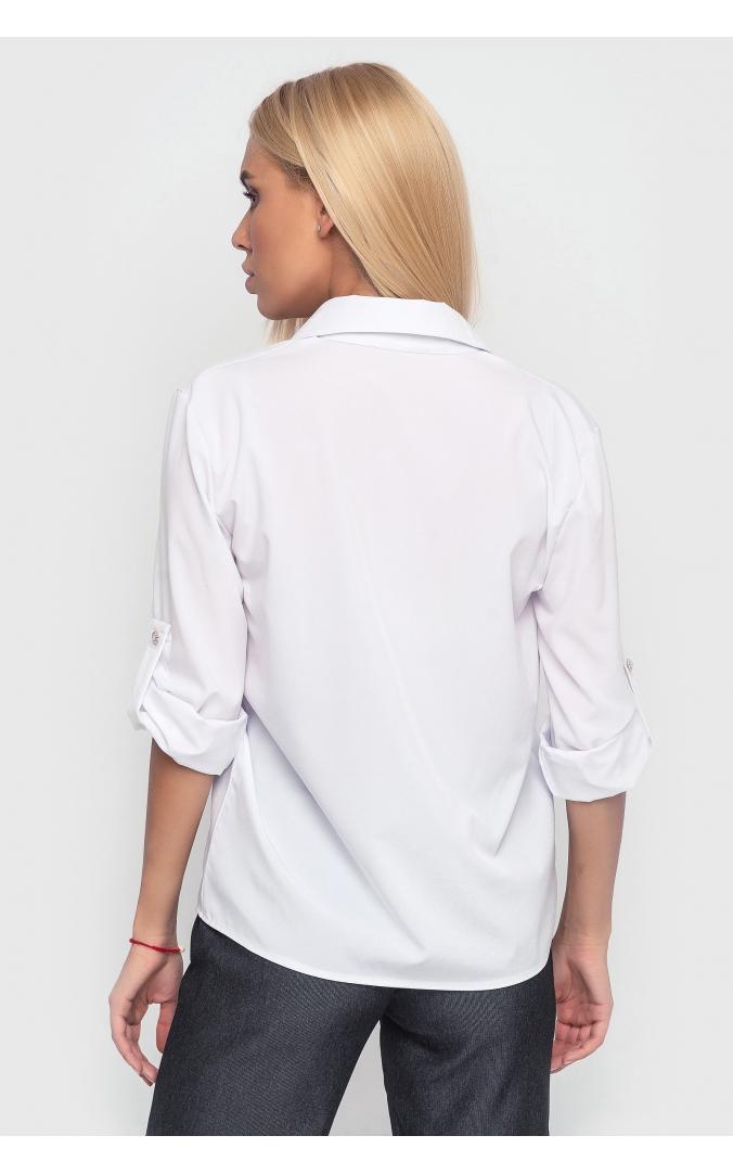 Свободная летняя рубашка (белая)