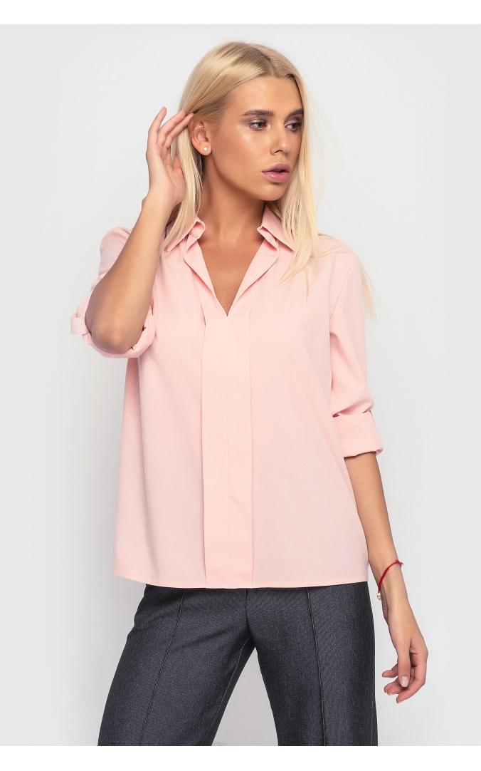 Свободная летняя рубашка (персиковая)