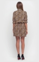 Leopard mini dress (brown)
