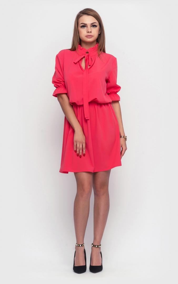 Женское летнее платье (коралловый)