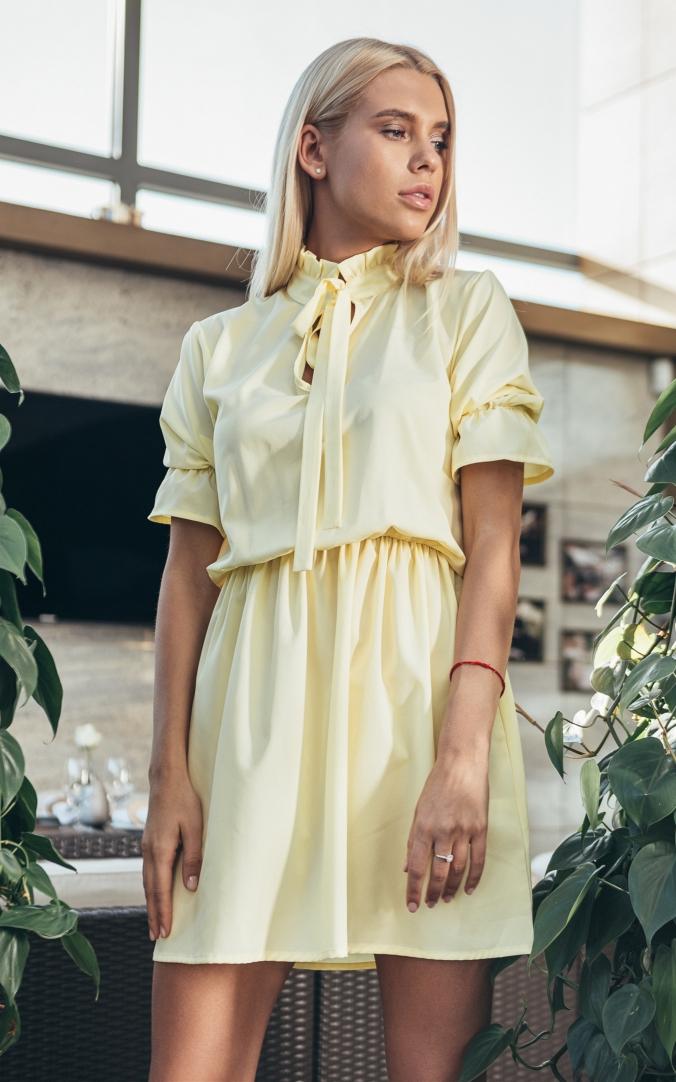 Женское летнее платье (желтое)