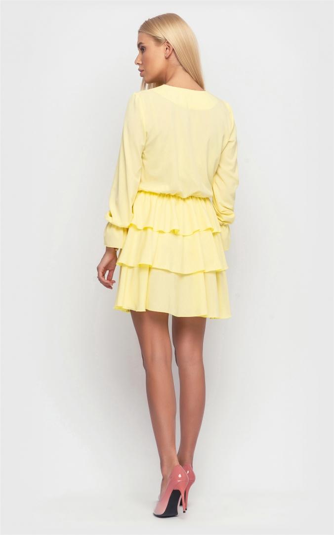 Стильное платье (желтое)
