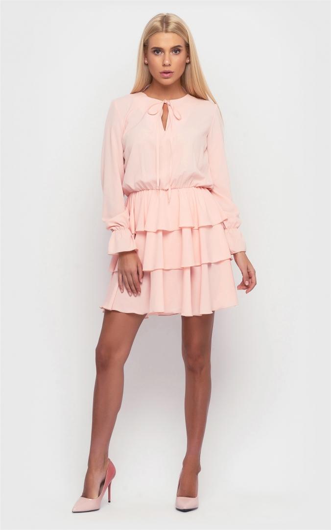 Стильное платье (розовый)