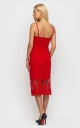Sophisticated summer dress (red)