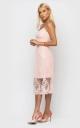 Утонченное летнее платье (персиковое)