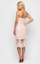 Sophisticated summer dress (peach)