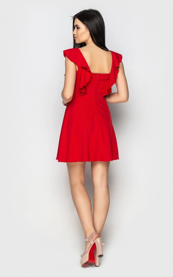 Легка повсякденна сукня (червона)