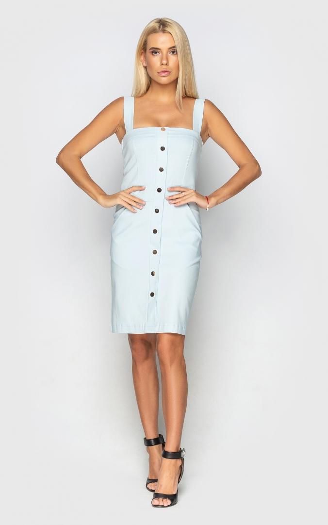 Трендовое облегающее платье (розовое)