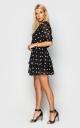 Летнее платье в горошек (черное)