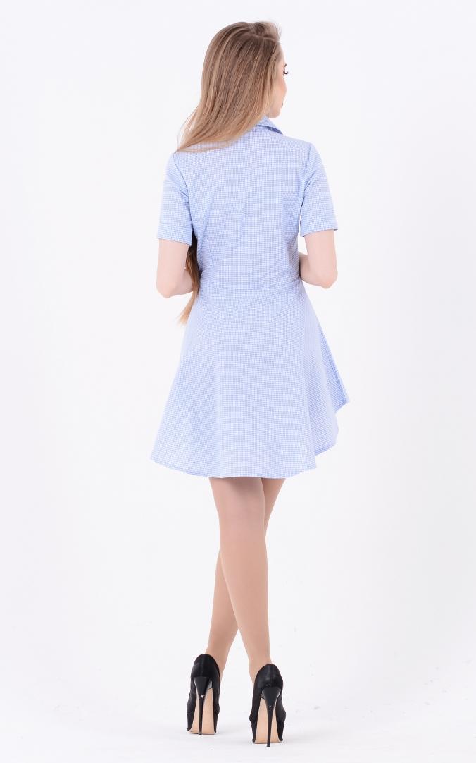 Asymmetrical dress-shirt