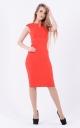 Лаконичное облегающее платье (красное)
