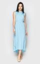 Шикарное платье миди (голубое)