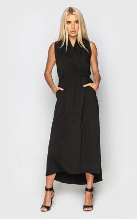 Шикарное платье миди (черное)