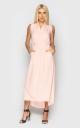 Шикарное платье миди (персиковое)