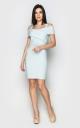 Облегающее джинсовое платье (голубое)