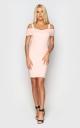 Облегающее джинсовое платье (розовое)