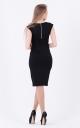 Лаконичное облегающее платье (черное)