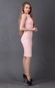 Лаконічна облягаюча сукня (рожева)