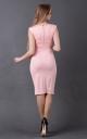 Laconic dress fitting (pink)