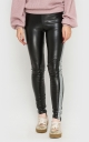 Stylish leather leggings