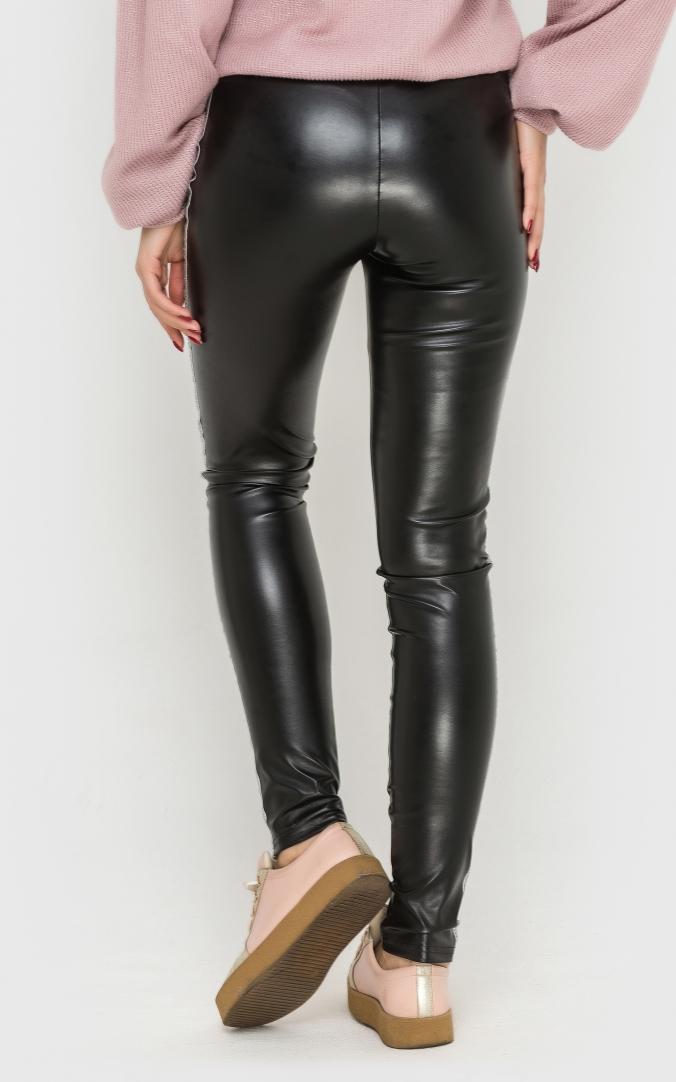 Stylish leather leggings