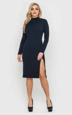 Вечернее платье с открытой спиной (синее)