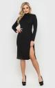 Вечернее платье с открытой спиной (черное)