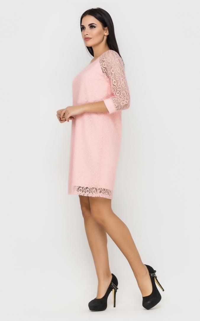 Elegant evening dress (pink)