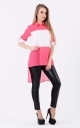 Long combined blouse (pink)