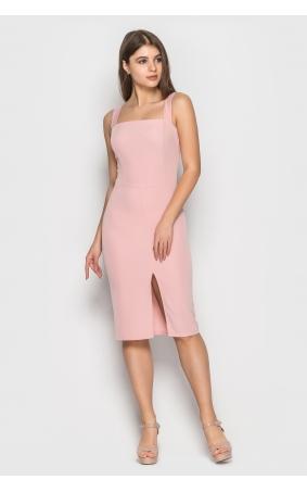 Элегантное платье-футляр (розовый)