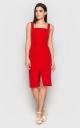 Элегантное платье-футляр (красное)
