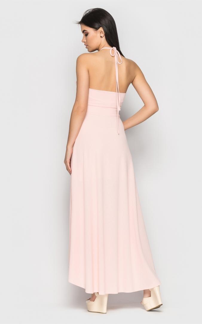Яркое летнее платье (розовое)