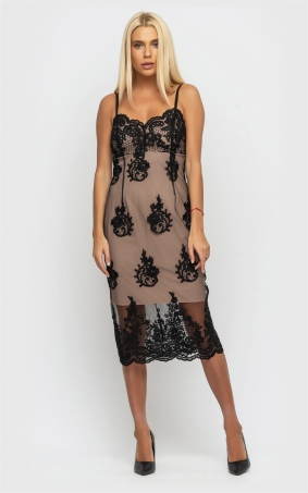 Sophisticated summer dress (black)