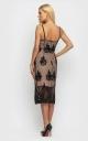 Утонченное летнее платье (черное)