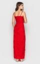 Облегающее длинное платье (красное)