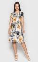 Платье из струящейся ткани (желтый)