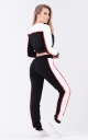 Two-tone sport suit (black-white)