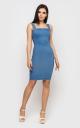 Приталенное платье-мини (джинсовое)