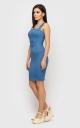 Приталенное платье-мини (розовое)