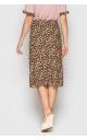Стильная юбка (коричневая)
