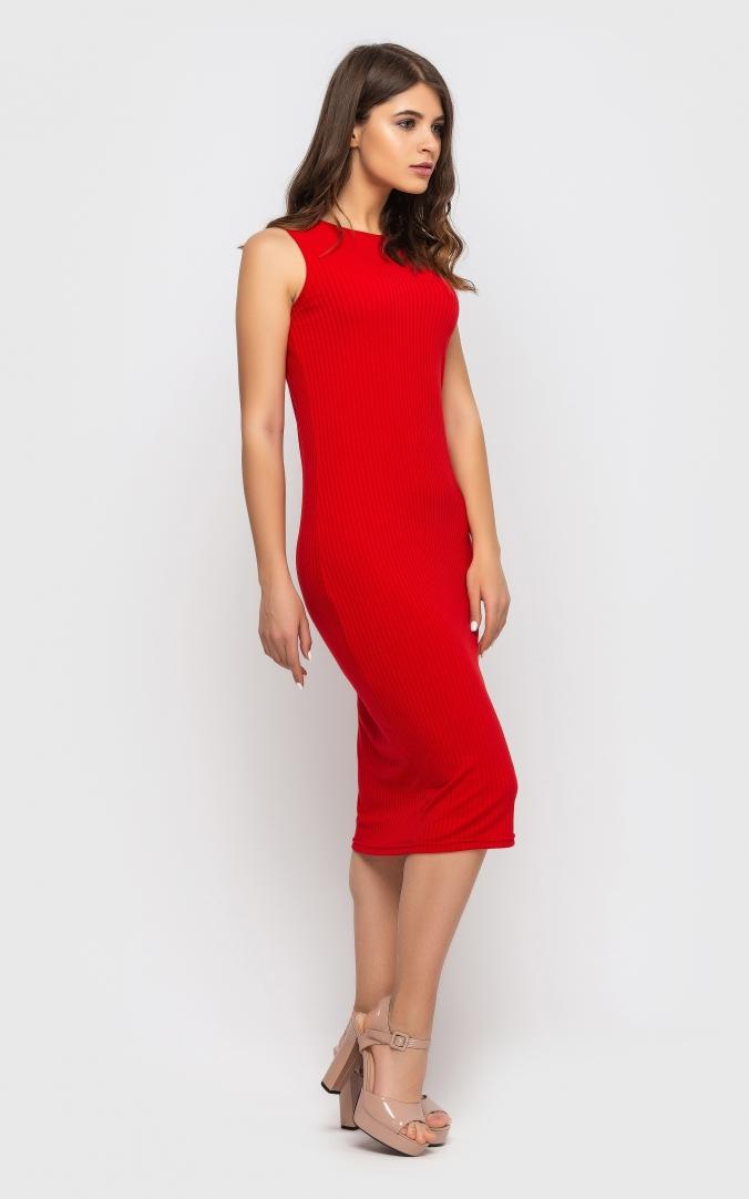 Повседневное платье-майка (красное)