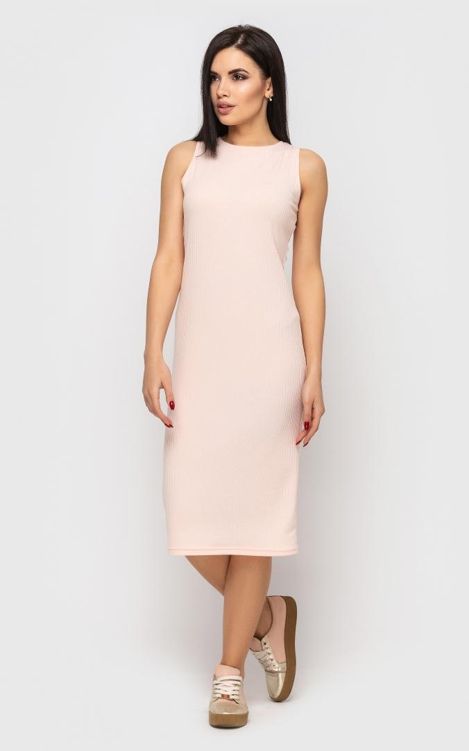 Повседневное платье-майка (розовое)