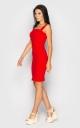 Приталенное платье-мини (красное)