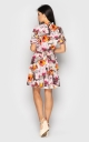 Короткое цветочное платье (Фиолетовое)
