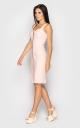 Стильное платье с молнией (розовое)