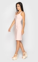 Stylish dress with zipper (pink)